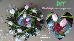DIY: Frühlingsdeko, voorjaars-bloemschikken: valentinstag-Geschenk I Val...