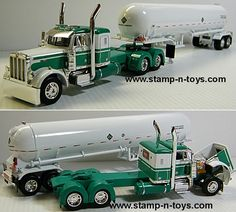 toy trucks and trailers | Pete 379 36 in. sleeper w/Anhydrous Tanker