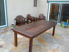 Oversized Redwood Heavy-Duty Outdoor Dining Table | Do It Yourself Home Projects from Ana White