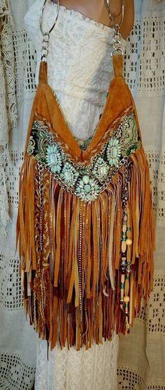 Handmade Brown Tan Suede Fringe Shoulder Bag Hippie Gypsy Boho Hobo Purse tmyers in Clothing, Shoes & Accessories, Women's Handbags & Bags, Handbags & Purses☮ American Hippie Bohéme Boho Style ☮ Fringe Bag - branded handbags for womens, brands o Hippie Bags, Boho Bags, Hippie Gypsy, Hippie Chic, Hippie Purse, Gypsy Bag, Gypsy Style, Hippie Style, Bohemian Style