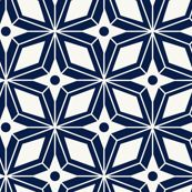 Starburst - Midcentury Modern Geometric Navy Blue by heatherdutton