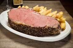 Our Prime Rib is aged and seasoned with our special spices and then slow roasted for 24 hours to ensure tenderness Queen Cut King Cut Le Bifthèque Cut Bone-In - Two plus lbs Prime Rib, Steak, Roast, Spices, King, Queen, Food, Spice, Essen