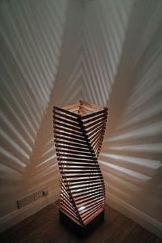 Floor lamp - A beautiful wooden floor lamp or free standing .- Floor lamp – A beautiful wooden floor lamp or free standing lamp by SurreyWoodsmiths Floor lamp a beautiful wooden floor lamp or freestanding - Wooden Floor Lamps, Wooden Lamp, Wooden Flooring, Diy Floor Lamp, Wood Floor, Diy Home Crafts, Craft Stick Crafts, Diy Home Decor, Craft Stick Projects