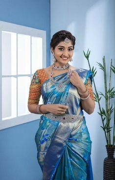 South Indian Wedding Saree, South Indian Bride, Saree Wedding, Indian Bridal, Beautiful Girl Indian, Most Beautiful Indian Actress, Beautiful Girl Image, Beautiful Women, Beautiful Birds
