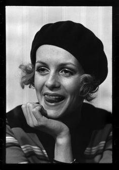 Portrait of British model Twiggy, United Kingdom, 1968, photograph by Raymond Depardon.