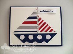 Sailboat Card - June 2014 Paper Pumpkin - Picture tutorial in post.