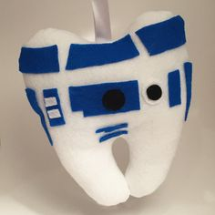 R2D2 Tooth Fairy Pillow by TheUpcycledOwlShop on Etsy