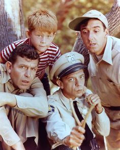 Ron Howard, Jim Nabors, Andy Griffith and Don Knotts at event of The Andy Griffith Show