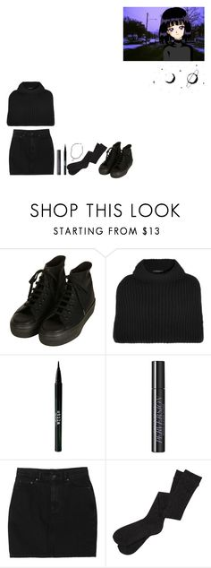 """✧ Sailor Saturn ✧"" by pure-darkness ❤ liked on Polyvore featuring Topshop, Derek Lam, Stila, Urban Decay, Monki and Brandy Melville"