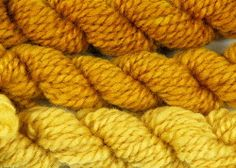 handspun wool dyed with fustic natural dye