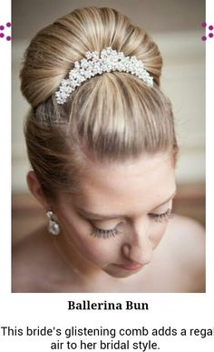 Beautiful wedding ballerina bun  #updo #hairstyle #weddings