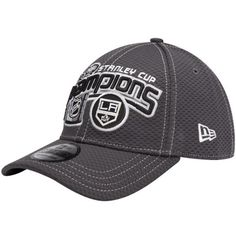 New Era Los Angeles Kings 2012 NHL Stanley Cup Final Champions Locker Room  39THIRTY Flex Hat - Gray 07a0080c1918