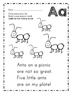 This poem is a sample of my alphabet poem pack designed to help students recognize letters and read words that begin with them. They love to find . First Day Of School Activities, Preschool Learning Activities, Language Activities, Homeschooling Resources, Alphabet Activities, Toddler Learning, Preschool Kindergarten, Reading Activities, Alphabet Poem