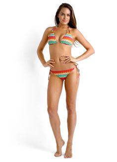 Zarhara Slide Triangle Bikini Top & Brazilian Tie Side Bikini Pant