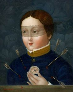 'Martyred Lover' by Philippine-born, American artist Fatima Ronquillo oil on panel, 10 x 8 in. Lovers Eyes, Eye Pictures, San Fernando, Eye Jewelry, Old Master, American Artists, Art World, Contemporary Artists, Painting & Drawing