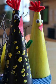 Min Naturliga Sida: Veckans dagispyssel: En färgglad påsktupp