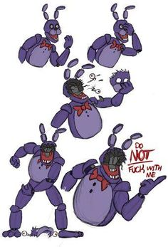 Bonnie : fuck with me one more time and I will fucking mess your asss! Five Nights At Freddy's, Fnaf 1, Anime Fnaf, All Meme, Stupid Funny Memes, Freddy S, Fnaf Characters, Fnaf Drawings, Fnaf Sister Location