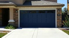 What a beautiful color for a garage door! Wayne Dalton Carriage House Steel garage door Model 9405 installed by Easy Lift Door Company in Sacramento, California for Lennar Homes Northern California.