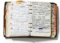 Nick Cave's diary... linked from Notebook Stories: A Blog About Notebooks.