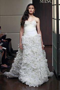 classic inspired bridal look   Badgley Mischka