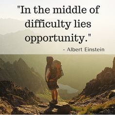 All challenges and difficulties can result in an opportunity. Be optimistic. #quoteoftheday #thoughtoftheday