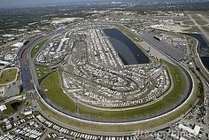 Daytona International Speedway, Daytona Beach, Florida. Daddy was able to run his Mercedes Benz on it, after a young female mechanic solved a spark plug problem.