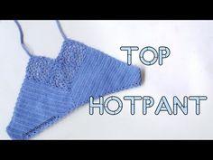 Biquíni de Crochê modelo Hot Pant ( 3a Parte - Top) - YouTube