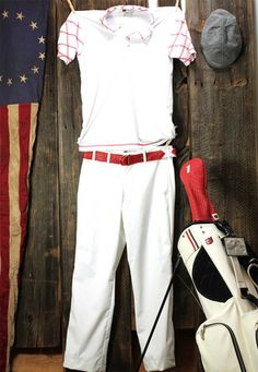 The Jubilee-Pure White/British Red Trim | iliac Golf