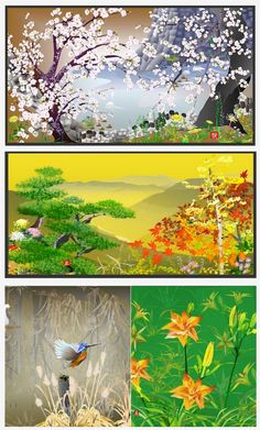 More Excel art created by Tatsuo Horiuchi, a 73-year-old Japanese artist.
