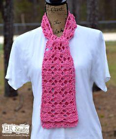 Sweet Pink Spring Scarf, free pattern