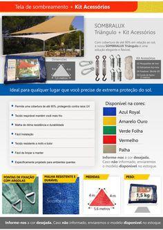 Lona Tela Sombreamento Triangulo + Kit De Instalação - R$ 395,00 em Mercado Livre