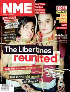 NME magazine cover, The Libertines, May 3rd 2014