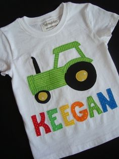 Big Green Tractor Personalized Shirtreserved by makmaydesigns, $27.00