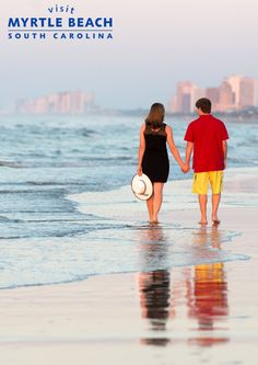 Book a romantic getaway to Myrtle Beach, SC! Take advantage of these great discounts on Myrtle Beach accommodations - http://www.visitmyrtlebeach.com/hotels/deals/?cid=soc_post_pin_promo__photo_couple_hotel_deals_111914.