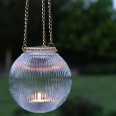 Re-purpose the glass globe from a ceiling light into an outdoor pendant light.