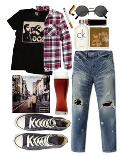 """""""Cos I've been standing at the station"""" by karllydolly ❤ liked on Polyvore featuring Converse, Retrofit, Calvin Klein, Retrò, men's fashion and menswear"""