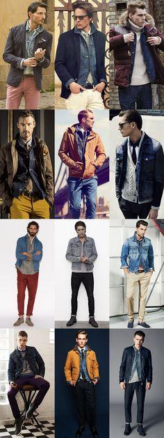 Men's Denim Jacket Lookbook - Experimenting With Ways To Wear