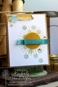 Ray of Sunshine stamp set, Kinda Eclectic stamp set :: StampinByTheSea.com Stampin' Up!