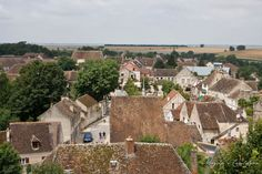 Provins - view over the city from Tower of Medieval Fairs