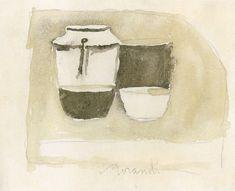 Giorgio-Morandi-watercolor  GIORGIO MORANDI (Bologna, 20 luglio 1890 – Bologna, 18 giugno 1964)   #TuscanyAgriturismoGiratola