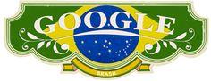Homenagem do Google ao Dia da Independência do Brasil.