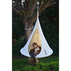 - Product Description - Product Specs - About The Cacoon Bonsai - What a cool place to hang out. Just like its older brothers, the Bonsai is made to the highest standards. Suspended Tent, Hanging Hammock, Outdoor Swing Seat, Indoor Swing, Outdoor Play, Bonsai, Kids Tents, Best Camping Gear, Swinging Chair