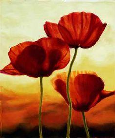 Poppies in Sunlight I  Poppies in Sunlight I    Poster by ANDREA KAHN      Poster by ANDREA KAHN