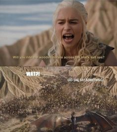 When it's pointed out that the lack of a PA system would have caused a real communications issue for any would-be invading force in Westeros:
