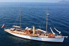 Antique Motor Yachts | Charter Yacht ROMOLA - Classic Schooner Motor Sailer - Turkey ...