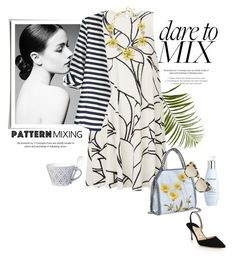 """""""Dare To Mix"""" by rever-de-paris ❤ liked on Polyvore featuring Manolo Blahnik, Christian Dior, Pier 1 Imports, STELLA McCARTNEY, WithChic, Kate Spade and Lene Bjerre"""