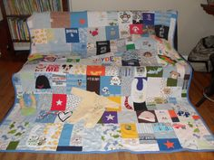 This memory quilt keepsake contains all of my favorite outfits from my sons first year of life. I LOVE IT!!!