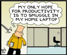 Dilbert cartoon that presents why IT departments fear #BYOD