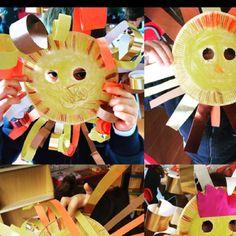 Paper plate lion mask