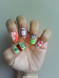 """""""The Price Is Right"""" nails! I always wanted to be on that game show. You think if I showed them my nails they would put me on the show?"""